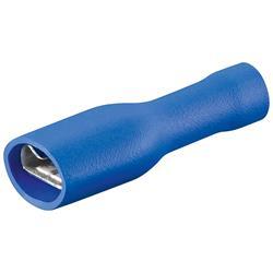 Blå isolerad flatstiftshylsa 6.4 x 0.8, 10-pack