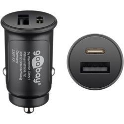 Goobay 12 volt 2-ports USB-laddare, QC / USB-C PD, 30 W