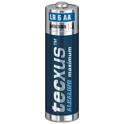 Alkaliskt batteri 1.5V AA/LR06, tecxus maximum, 4-pack