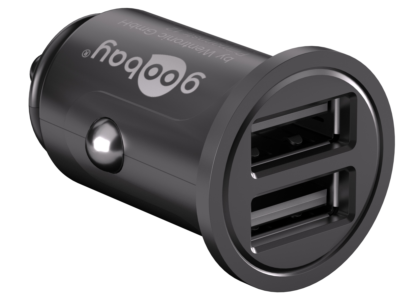USB laddare till bilen, 12V > 2 x USB, 4.8 A