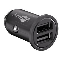USB-laddare till bilen, 12V > 2 x USB, 4.8 A