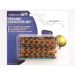 Komponentsats keramiska kondensatorer, 224 styck