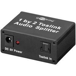 Toslink aktiv splitter för digitalt ljud, 1 in 2 ut