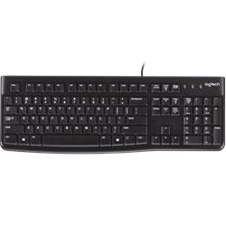Tangentbord, Logitech K120, USB-anslutet, svart