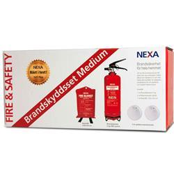 NEXA Fire & Safety Brandskyddsset Medium Röd