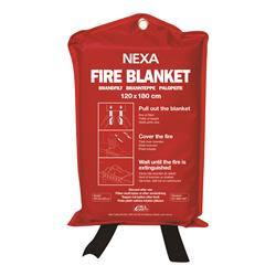 NEXA brandfilt, 120 x 180cm, röd