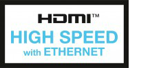 Goobay HDMI™-kabel, High-speed with Ethernet, 0.5 meter