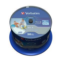 Verbatim BD-R SL, 6x, 25GB/200min, 50-pack spindel