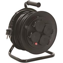 Kabelvinda med 10 meter kabel och 4 uttag, IP44