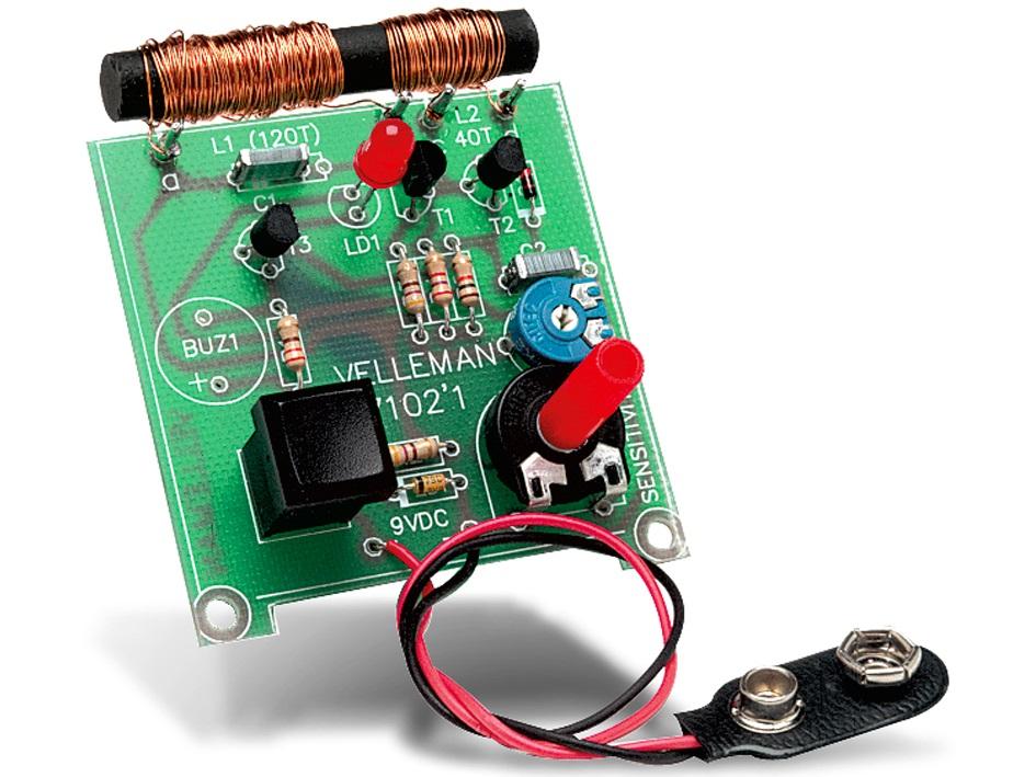 Byggsats metalldetektor Velleman K7102