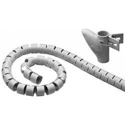 Kabelslukare i nylon, 20 mm diameter, grå