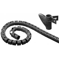 Kabelslukare i nylon, 20 mm diameter, svart