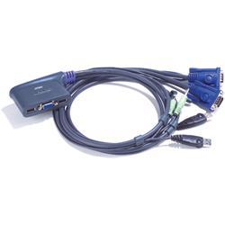 ATEN KVM-switch, 1 konsol styr 2 datorer, med ljud