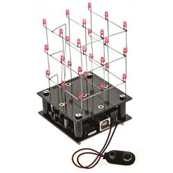 Byggsats 3D LED-kub 3 x 3 x 3 röd - Velleman MK193