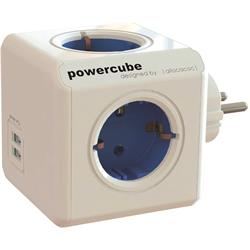 Allocacoc PowerCube Original USB, 4 jordade uttag, 2 USB
