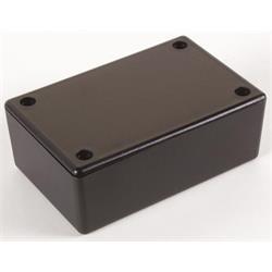 Inbyggnadslåda i svart plast, 85 x 55 x 30 mm