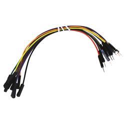 Kopplingstråd, sats med 10 st olikfärgade, stift + hylsa