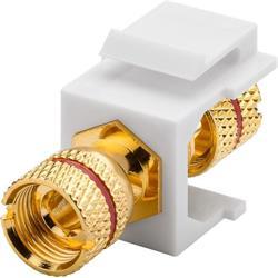 Goobay Keystone-modul, högtalaranslutning, röd