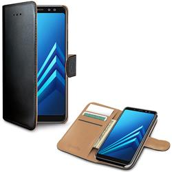Celly Wallet Case Samsung A8 (2018), svart och brunt
