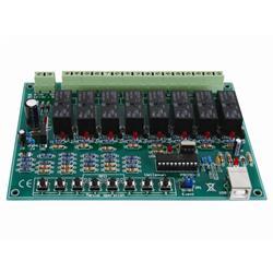 Byggsats 8-kanals USB-styrt reläkort - Velleman K8090