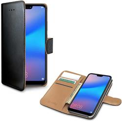 Celly Wallet Case Huawei P20 Lite, svart och brunt