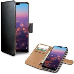 Celly Wallet Case Huawei P20 Pro, svart och brunt