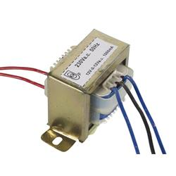 Transformator, 230 V till 2x12 V, 1A, 24 VA