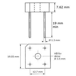Likriktarbrygga BR104, 400 Volt 5 Ampere