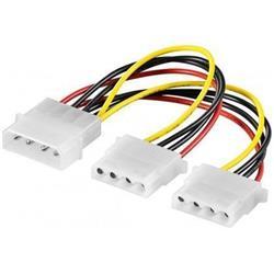 Strömkabel Y-adapter, 1 Molex hane till 2 Molex hona