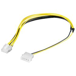 Strömkabel adapter 4-pol Molex hane till 8-pol EPS hona