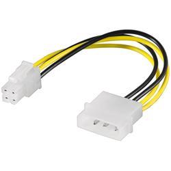 Strömkabel adapter 4-pol Molex hane till 4-pol P4 hane