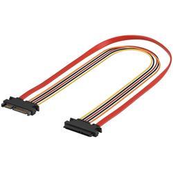 SATA-kabel, förlängning för data och spänning, 50cm