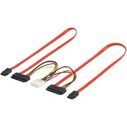 SATA och strömkabel, för två SATA-enheter