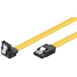SATA-kabel, rak hane till vinklad hane, låsning, 10 cm