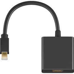 Adapter Mini DisplayPort till HDMI, 20 cm svart