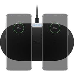 Dubbel FastCharging laddplatta, 10 Watt Qi trådlös