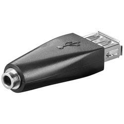 USB 2.0-adapter, USB A hona till 3-polig 3.5 mm hona