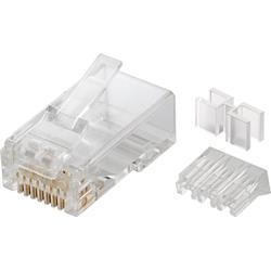 RJ45-kontakt, CAT 6A UTP, med kabelledare, 10-pack