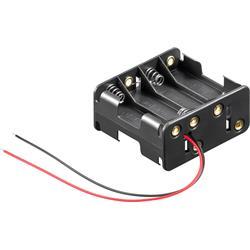 Batterihållare för 4 AA-batterier