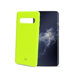 Celly Shock Cover Galaxy S10, neongult