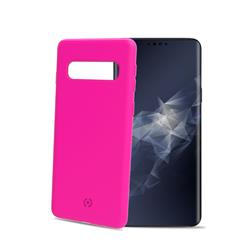 Celly Shock Cover Galaxy S10, neonrosa