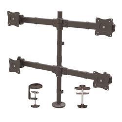 Skrivbordsmonterad kvadrupel monitorarm - ledad - kraftigt stål