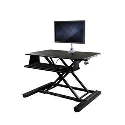 Höj- och sänkbar skrivbordskonverterare med bildskärmsarm - 90 cm bred arbetsyta - för upp till 30