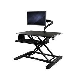 Höj- och sänkbar skrivbordskonverterare med bildskärmsarm - 90 cm bred arbetsyta - för upp till 26