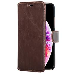 Champion Slim Wallet Case iPhone 11 Pro Max, brun