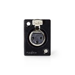 Nedis XLR-kontakt 3-polig chassihona, svart