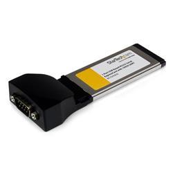 ExpressCard med 1 port till RS232 DB9-seriell kortadapter med 16950 - USB-baserad