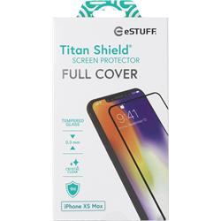 eSTUFF Titan Shield, Full Black, för iPhone Xs Max