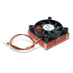 1U 60x10mm Sockel 7/370 CPU fläkt med kopparkylfläns och TX3