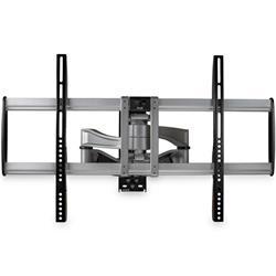 Fullt rörligt väggfäste för tv - Premium - silver-